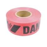 3-in X 500-ft Reinforced Barricade Tape, Danger, Red
