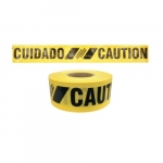 3-in X 500-ft Reinforced Barricade Tape, Caution, Yellow