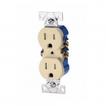 15A tamper resistant (TR) Ivory Self Grounded Receptacle