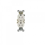15A tamper resistant (TR) White Self Grounded Receptacle