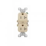 20 Amp Duplex Receptacle Outlet, Almond