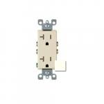 20 Amp Decora Duplex Receptacle Outlet, Ivory