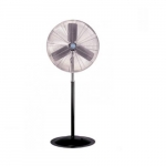 24-in Oscillating Industrial Fan Head  & Pedestal, 2-Speed Pull Chain