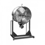 60in Belt-Drive Cooling Fan w/Explosion-Proof Motor, High Stand, 5 HP, 3 Ph, 43000CFM