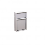 2-Stage Line Voltage Thermostat, Snap Action, Aluminum