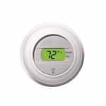 24V 2-Wire Digital Thermostat, Round Shape, Heat Only