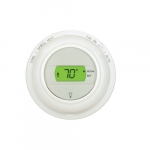 24V 2-Wire Digital Thermostat, Round Shape, Low Voltage