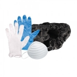 Booty Pack (Disposable Boot Covers, N95 Respirators, Nitrile & Vinyl Gloves)