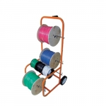 43-in Tall Cable Caddy w/ 7-in rubber wheels