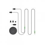 2 in 1 Industrial Bluetooth Headphones & Ear Plugs, Black & Green