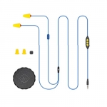 2 in 1 Industrial Bluetooth Headphones & Ear Plugs w/ Mic, Volume Limited, Blue & Yellow