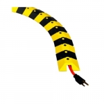 1-ft Cable Protector System, Black & Yellow