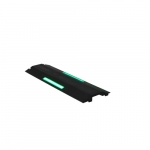 36-In x 1.38-in Cord Protector w/ Five Channels, Glow in the Dark, Black