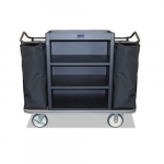 Standard Janitorial Cart, 400 lbs Capacity, Black