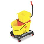 WaveBrake Yellow 35 qt. Dual-Water Combo w/ Sideward Wringer