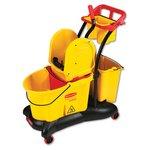 WaveBrake Yellow 35 qt. Mopping Trolley w/ Downward Wringer