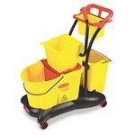WaveBrake Yellow 35 qt. Mopping Trolley w/ Sideward Wringer