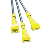 Yellow/Gray 60 in. Clamp Antimicrobial Fiberglass Handles