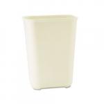 Beige 40 qt. Fiberglass Wastebaskets