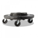 Brute Black Quiet Dolly for all Brute Containers but 10 Gal