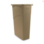 Slim Jim Beige 23 Gal Rectangular Waste Containers