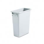 Slim Jim Gray Rectangular 15-7/8 Gal Waste Container