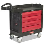 TradeMaster Cart, 500-lb Cap, One-Shelf, 18-3/8w x 40-5/8d x 33-3/8h, Black