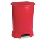 Red Plastic Medical Waste Step-On 30 Gal Container