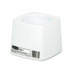 White Plastic 5 in. Round Toilet Bowl Brush Holder