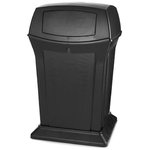 Ranger Black 45 Gal Container w/ Two Doors