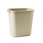 3.5 Gal. Rectangular Deskside Wastebasket, Beige