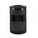 Black Metallic Classics Open Top 51 Gal Receptacle