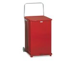 Mobile Step Can w/Wheels and Handle, 40 Gallon, Red