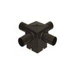 "Quad Arm 4"" Square Horizontal Tenon, 90 Degree Angle, Bronze"