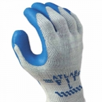 300 Series Rubber-Coated Gloves, X-Large, Blue/Gray