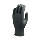 770 Series Nitrile Gloves, X-Large, Rolled Cuff, Black