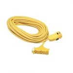 25-ft GFCI Extension Cord, 12/3 AWG, 15 Amp, 120V, Yellow