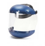 380 Series Ratcheting Headgear w/ Faceshield, Blue