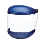 380 Series Slotted Hard Hat Adapter w/ Clear Faceshield, Blue