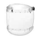 380 Series Slotted Hard Hat Adapter w/ Anti-Fog Faceshield, Clear