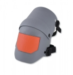 Ultra Flex Knee Pad w/ Elastic Straps & Quick-Strap Clips, Grey/Orange