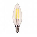 4W LED C11 Candelabra Bulb, 350 Lumens, Dimmable, 3000K