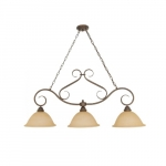 60W Castillo Series Island Pendant Light w/ Champagne Glass, 3 Lights, Sonoma Bronze