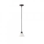 100W Empire LED Mini Pendant w/Frosted White Glass, 1 Light, Mahogany Bronze