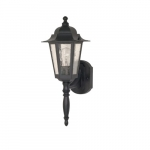 60W Cornerstone LED Wall Lantern w/ Clear Seed Glass, 1 Light, Textured Black