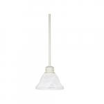 100W Empire Mini Pendant w/ Alabaster Glass, 1 Light, Textured White