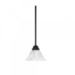 100W Castillo LED Mini Pendant, 1 Light, Alabaster Swirl Glass