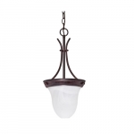"10"" 100W Pendant Light w/ Alabaster Glass, Old Bronze"