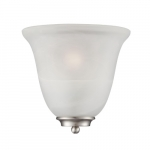 60W Empire LED Wall Sconce w/ Alabaster Glass, 1 Light, Brushed Nickel