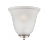 60W Empire LED Wall Sconce w/ Frosted Glass, 1 Light, Brushed Nickel